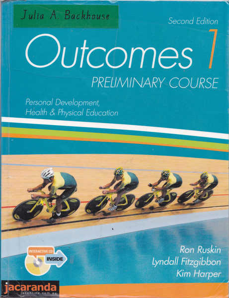 Outcomes 1 Preliminary Course : Personal Development, Health and Physical Education