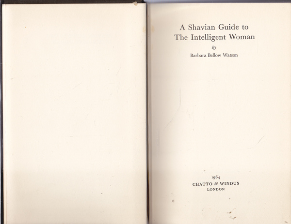 A Shavian Guide to the Intelligent Woman