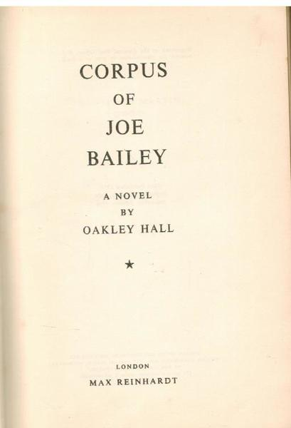 Corpus of Joe Bailey