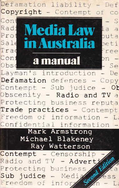 Media Law in Australia: a Manual