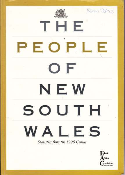 The People of New South Wales : Statistics from the 1996 Census