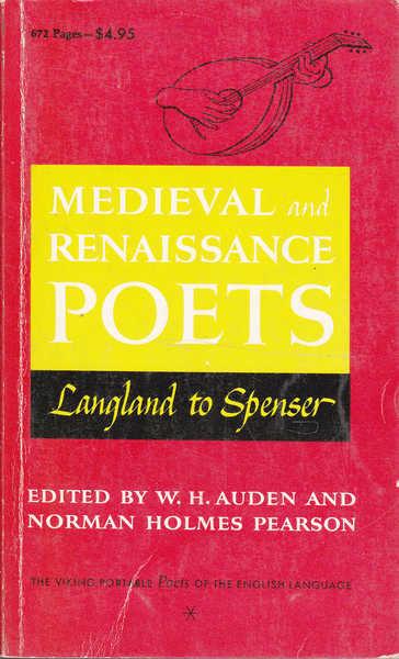 Medieval and Renaissance Poets: Langland to Spenser