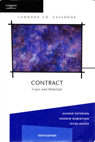 Contracts: Cases And Materials Third Edition