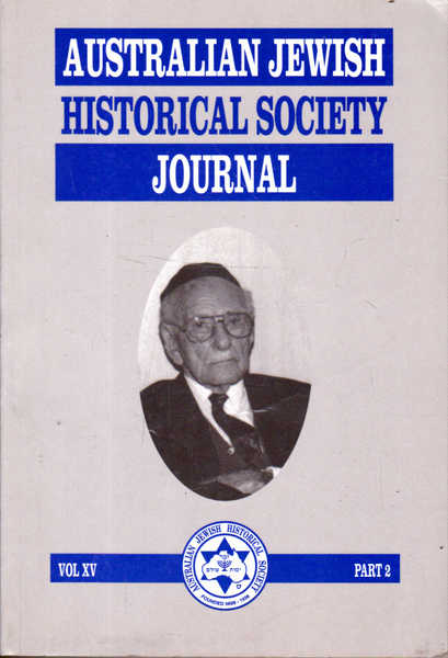 Australian Jewish Historical Society Journal: June 2000 Vol XV Part 2