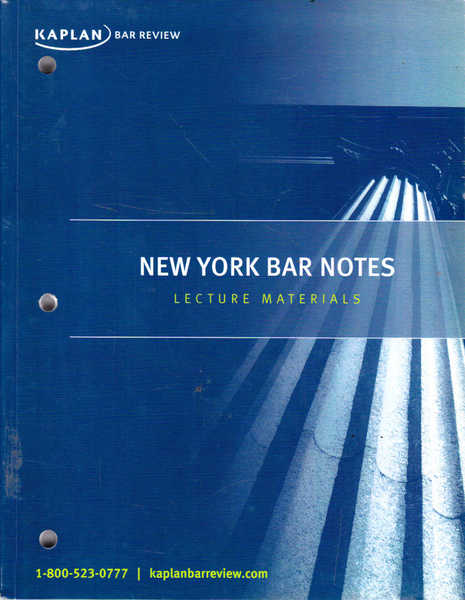 New York Bar Notes: Lecture Materials