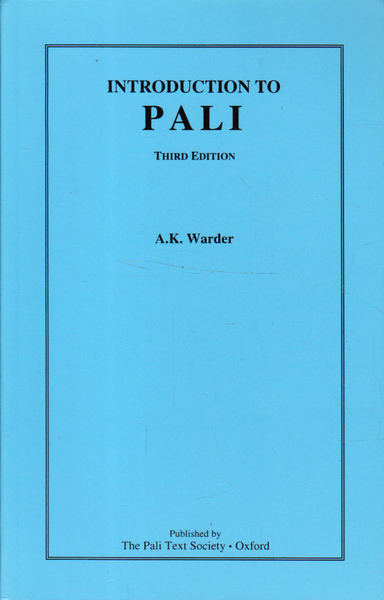 Introduction to Pali: Third Edition