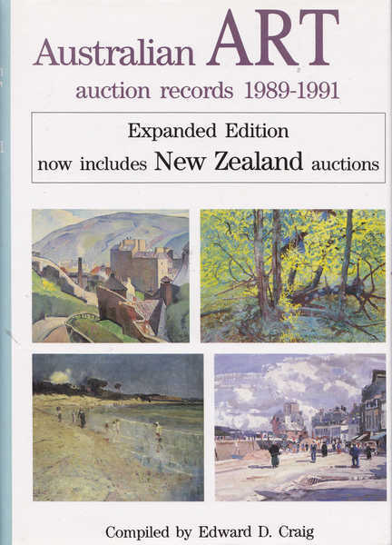Australian ART Auction Records 1989-1991 Volume 7