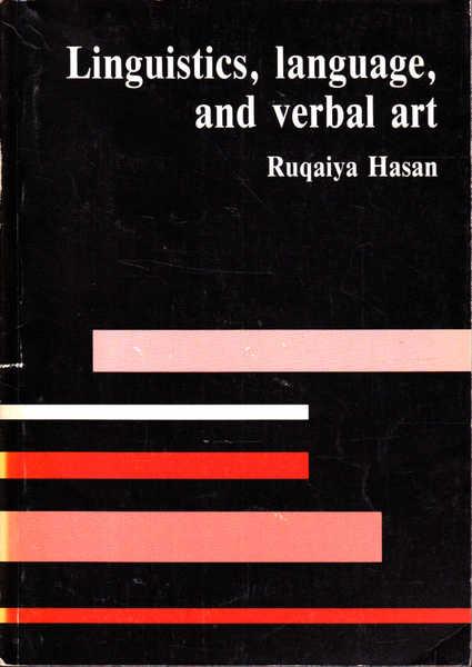 Linguistics, language and verbal art