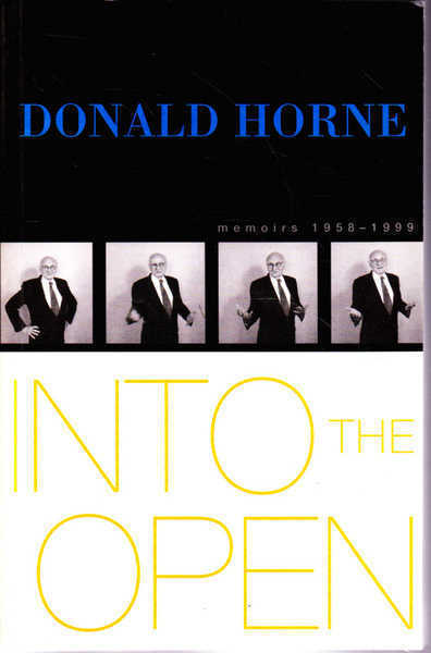 Into the Open: Memoirs 1858-1999