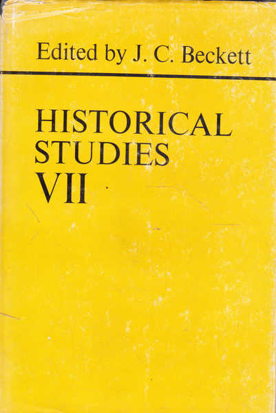 Historical Studies VII: Papers Read Before the Irish Conference of Historians