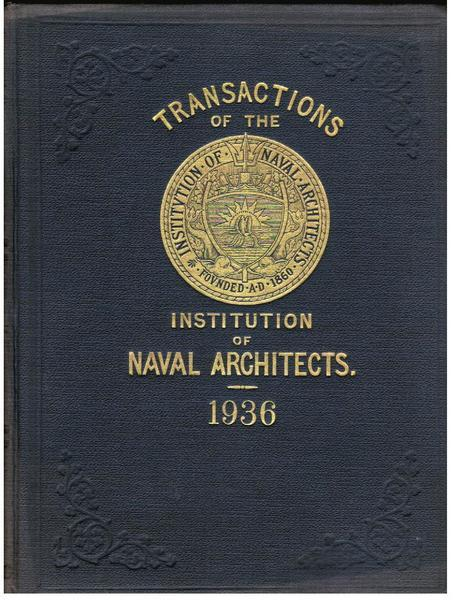 Transactions of the Institution of Naval Architects, Vol. LXXVIII