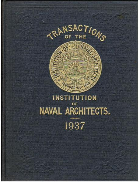 Transactions of the Institution of Naval Architects, Vol. LXXIX