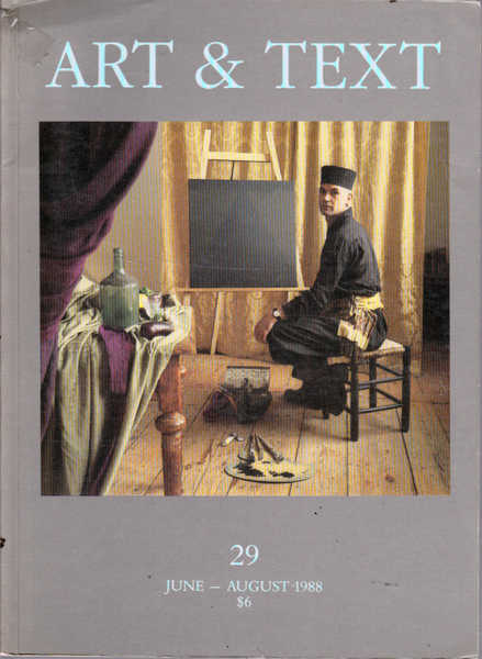 Art and Text 29, June-August 1988