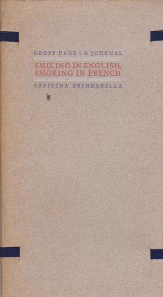 Smiling in English, Smoking in French: A Journal