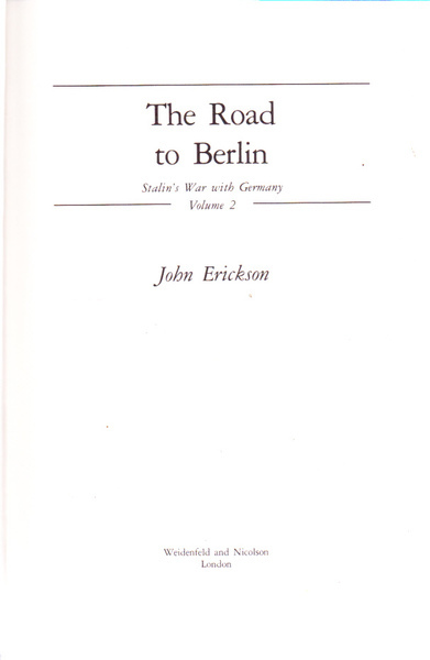 The Road to Berlin: Stalin