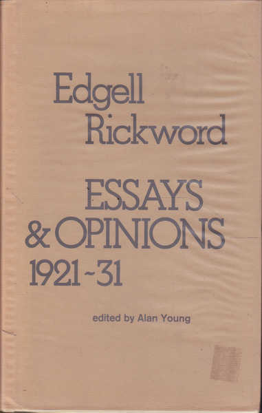 Essays and Opinions 1921-1931