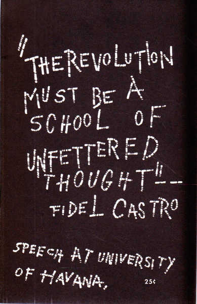 The Revolution Must be a School of Unfettered Thought: Speech at University of Havana