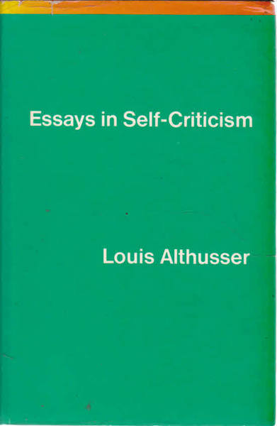 Essays in Self-Criticism