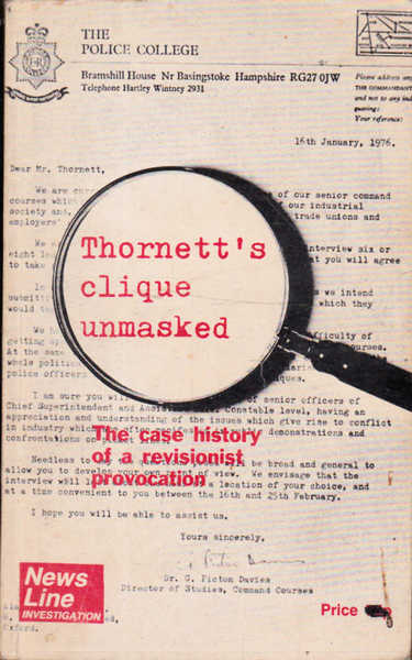 Thornett's Clique Unmasked : The Case History of a Revisionist Provocation
