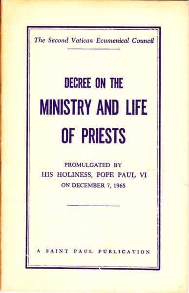 Decree on the Ministry and Life of Priests