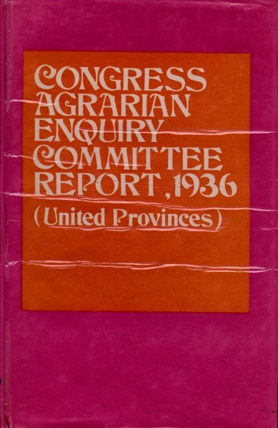 Congress Agrarian Enquiry Committee Report