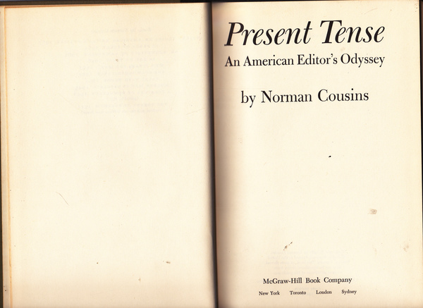 Present Tense : An American Editor's Odyssey