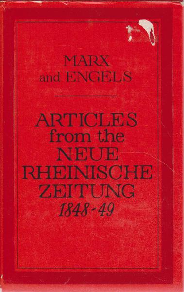 Articles from the Neue Rheinische Zeitung 1848-49