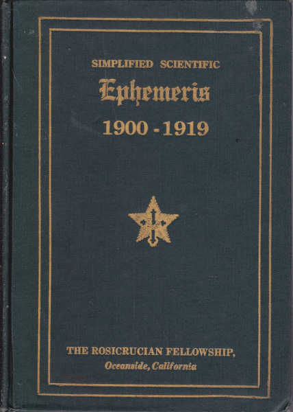 Simplified Scientific Ephemeris 1900-1919