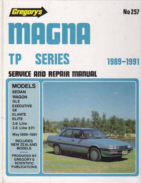 Gregory's Scientific Publications Service and Repair Manual No. 257.  Magna TP Series 1989-1991